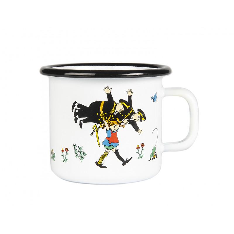 Pippi Enamel Mug Pippi And The Policemen 0.25 L