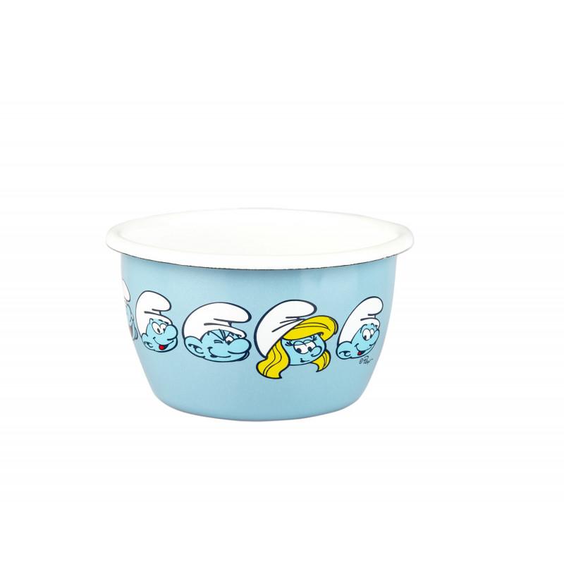 Smurf Enamel Bowl 0.3 L