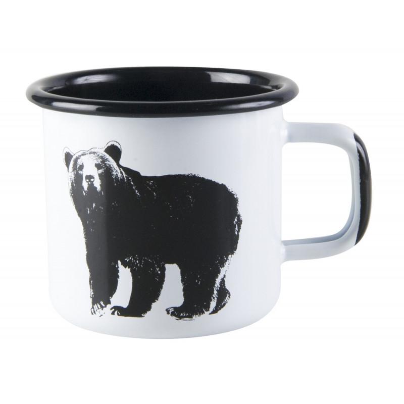 Muurla Nordic Enamel Mug Bear 0.37 L Outlet