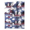 Moomin Duvet Cover Pillow Case 150 x 210 cm Roses Blue Organic Cotton