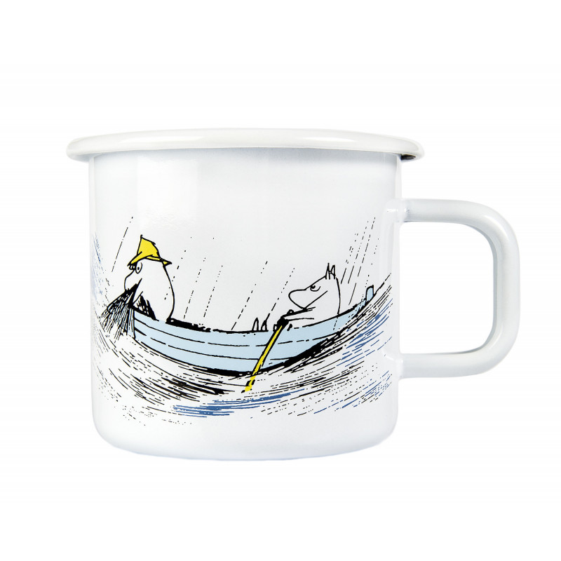 Moomin Enamel Mug 0.37 L Originals Gone Fishing