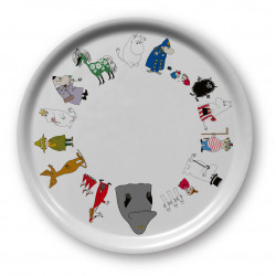 Moomin Friends Online Round Tray 31 cm