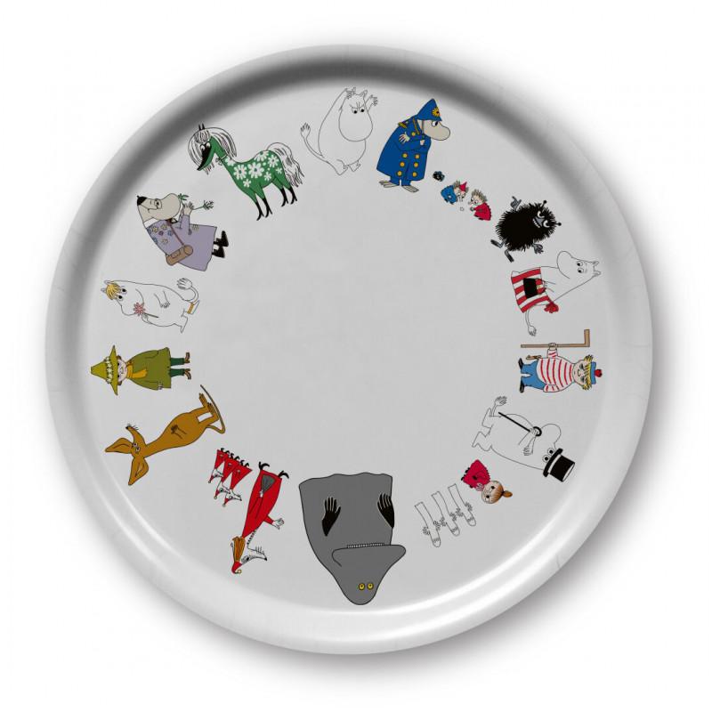 Moomin Friends Online Round Tray 31 cm