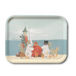 Moomin Tray Oursea Boat on the Beach 27 x 20 cm