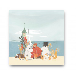Moomin Napkins Oursea Boat on the Beach 33 cm