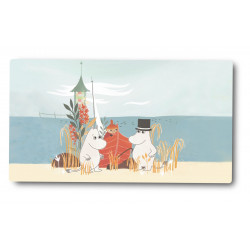 Moomin Cutting Board Oursea Boat on the Beach 40 x 17 cm