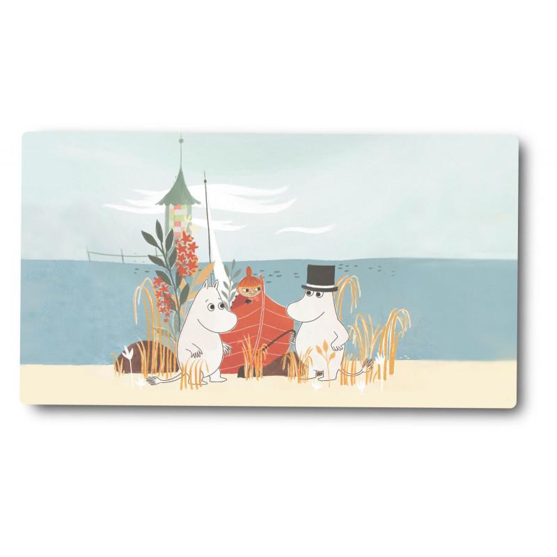 Moomin Cutting Board Oursea Boat on the Beach 40 x 17 cm