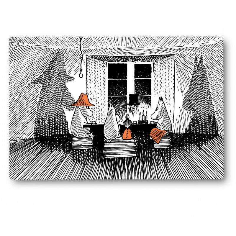 Moomin Cutting Board Together 30 x 20 cm