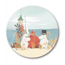Moomin Pot Coaster Oursea Boat on the Beach 21 cm