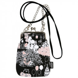 Moomin Pouch Bag Long Strap Metal Clasp Party Moments