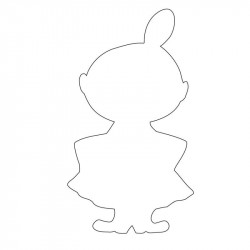 Moomin Little My Cookie Cutter Size M