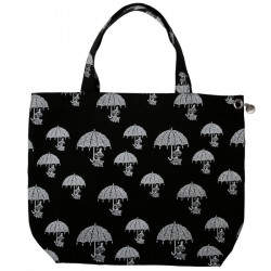Moomin Shopping Bag Nana Pepper Black