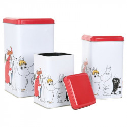 Moomin Characters Tin Box Set of 3