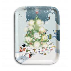 Moomin Birch Tray Christmas Tree 20 x 27 cm