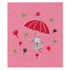 Moomin Dishcloth Little My Pink 17 x 20 cm