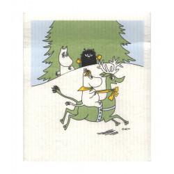 Moomin Dish Cloth Snorkmaiden Reindeer 17 x 20 cm