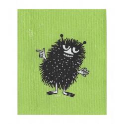 Moomin Dishcloth Stinky Green 17 x 20 cm