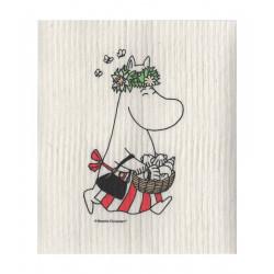 Moomin Dishcloth Moominmamma Midsummer 17 x 20 cm