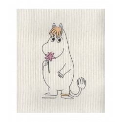 Moomin Dishcloth Snorkmaiden with Flower 17 x 20 cm