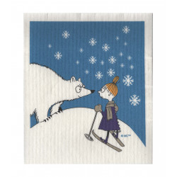 Moomin Dishcloth Winter Mymble and the Bear 17 x 20 cm