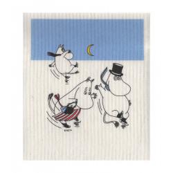 Moomin Dishcloth On Ice 17 x 20 cm