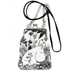 Moomin Vinssi Purse Meadow Black and White