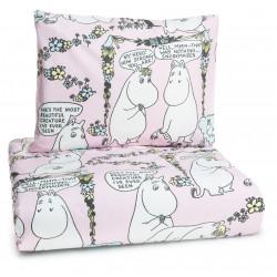 Moomin Duvet Cover Pillowcase Lempimuumi My Hero Pink Finlayson 150 x 210 cm