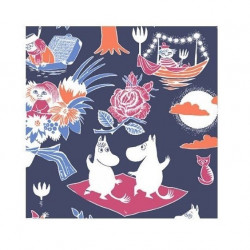 Moomin Magic Blue Napkins 24 x 24 cm 20 pcs Suomenkerta
