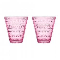 Kastehelmi Glass Tumbler Pink 0.3L Set of 2