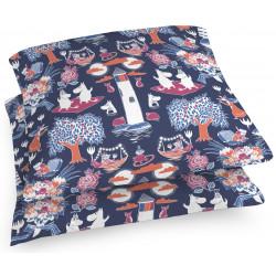 Moomin Decorative Pillowcase Magic Taikamuumi Drak Blue Finlayson 48 x 48