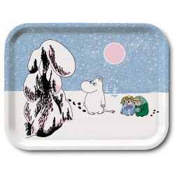 Moomin Birch Tray Crown Snow Load 20 x 27 cm