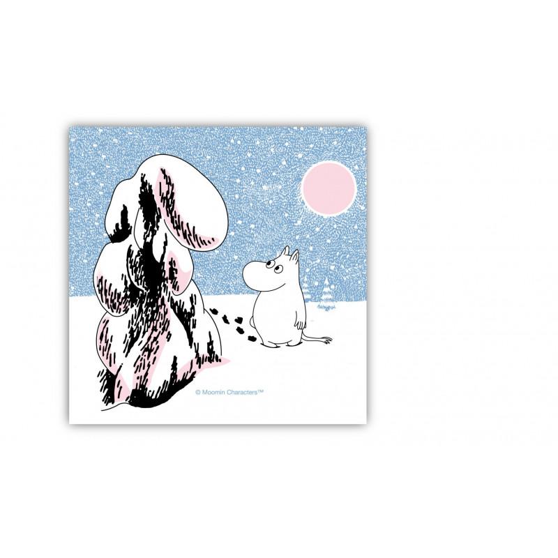 Moomin Paper Napkins Snow Crown Load 33 x 33 cm 20 pcs