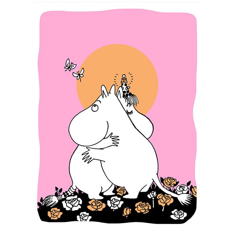 Moomin Greeting Card Letterpressed Love