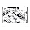 Moomin Set of 4 Posters 24 x 30 cm Black and White Set 17