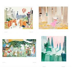 Moomin Set of 4 Posters 24 x 30 cm Art Set 19