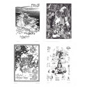 Moomin Set of 4 Posters 24 x 30 cm Black and White Set 20