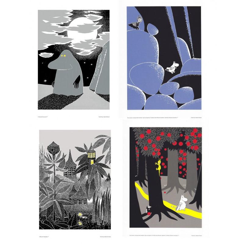 Moomin Set of 4 Posters 24 x 30 cm Set 21