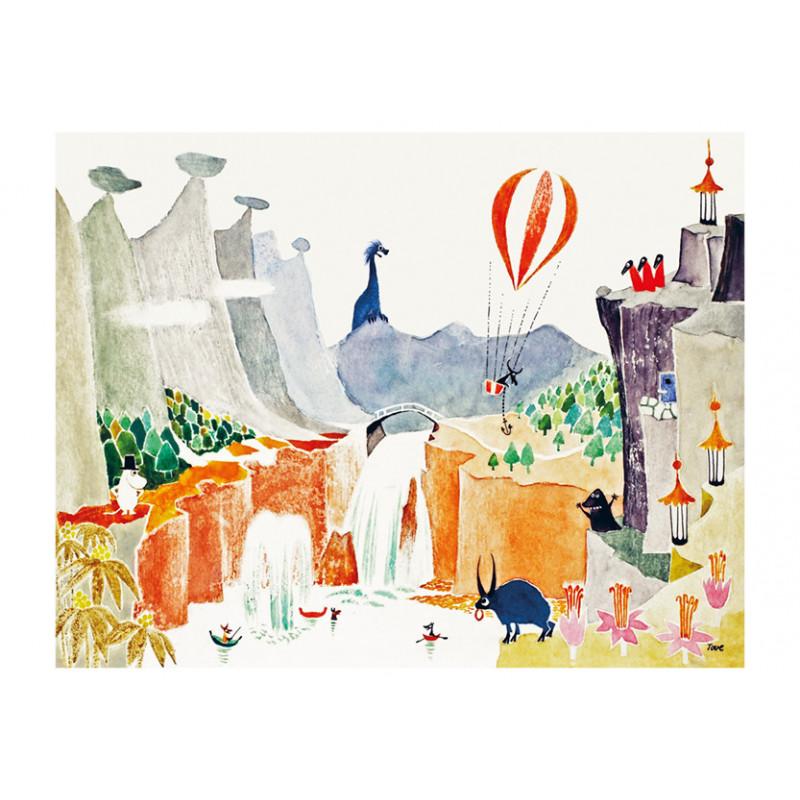 Moomin Postcard Moomipappa Memoirs