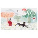 Moomin Postcard Magicians Hat Panther