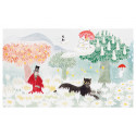 Moomin Greeting Card with Envelope Magicians Hat Panther