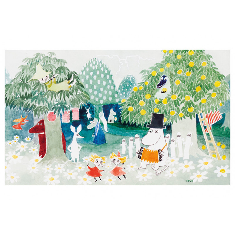 Moomin Greeting Card with Envelope Magicians Hat Moomnpappa