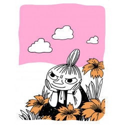 Moomin Letterpress Greeting Card Little My with Flowers