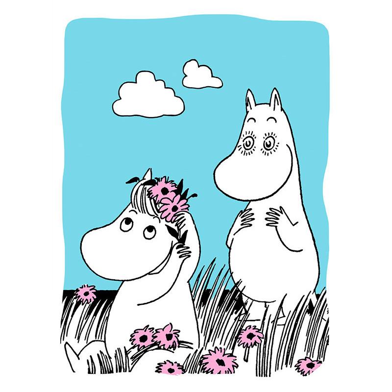 Moomin Letterpress Greeting Card Enamored Moomintroll
