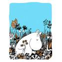 Moomin Letterpress Greeting Card Moomintroll Picking Flowers