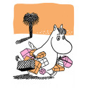 Moomin Letterpress Greeting Card Snorkmaiden Has Been Shopping