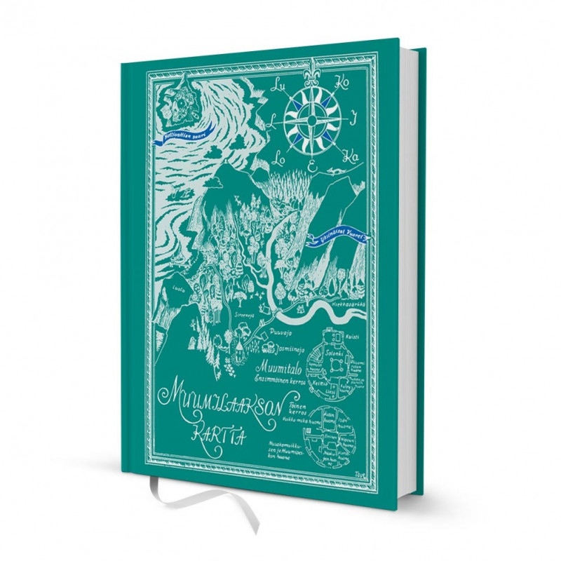 Moomin Hardcover Notebook 16 x 20 cm Moominvalley Map