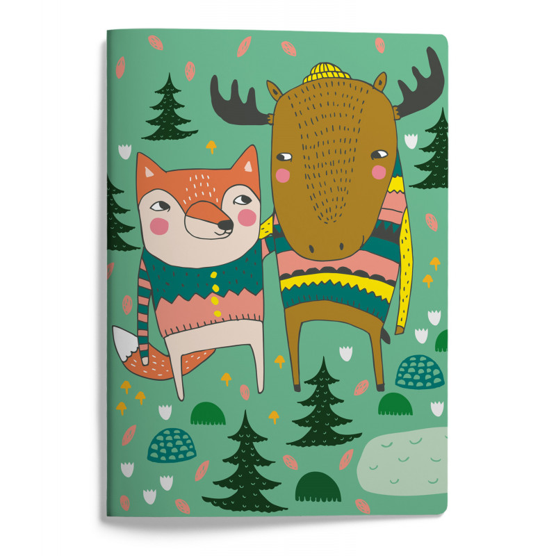 Mira Mallius A5 Notebook 15 x 21 cm 48 pages Fox and Moose