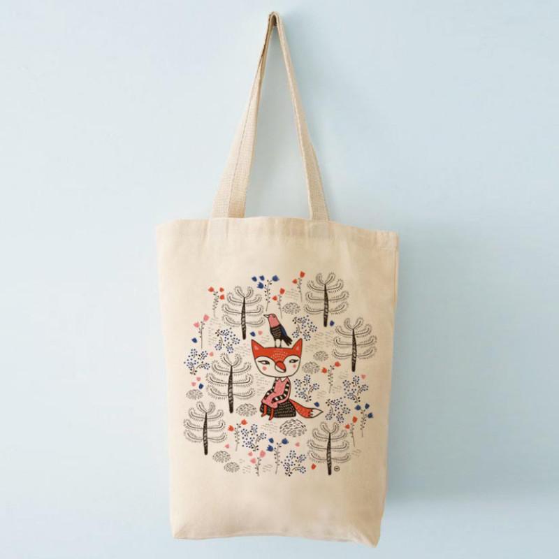 Mira Mallius Canvas Bag 37 x 42 cm Straps 60 cm Fox