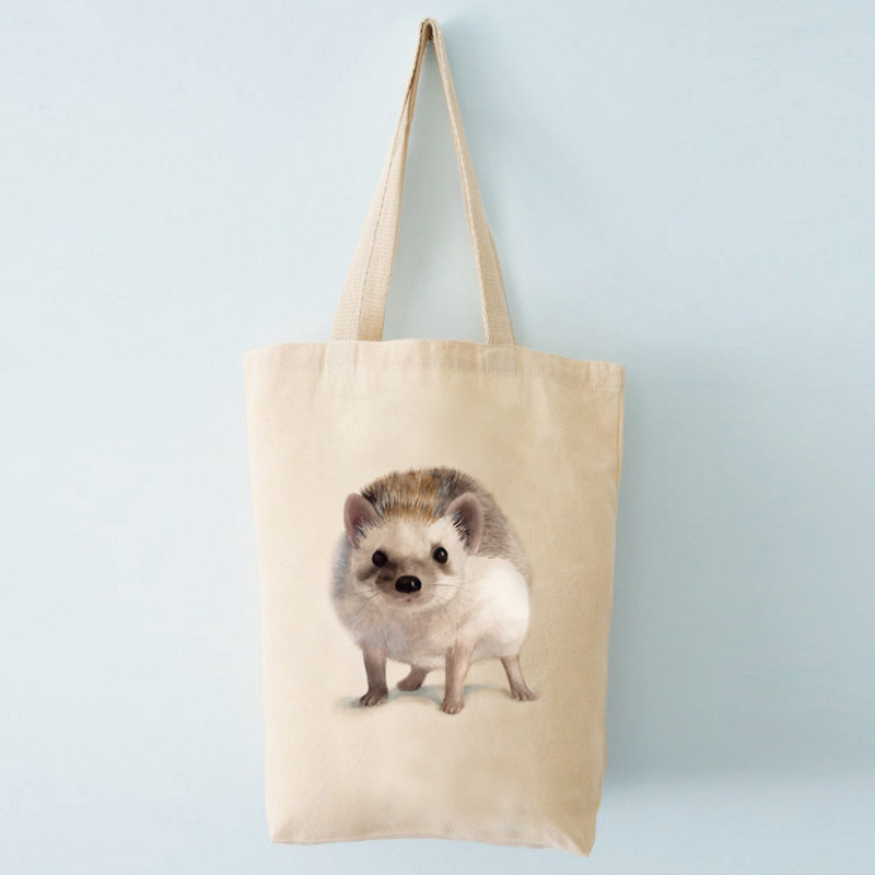 Henna Adel Canvas Bag 37 x 42 cm Straps 60 cm Hedgehog