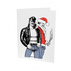 Tom of Finland Letterpress Greeting Card Christmas 17